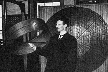 Тесла создал трансформатор для получения высокочастотных токов.